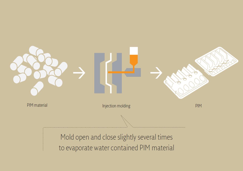 PIM Pulp molding process