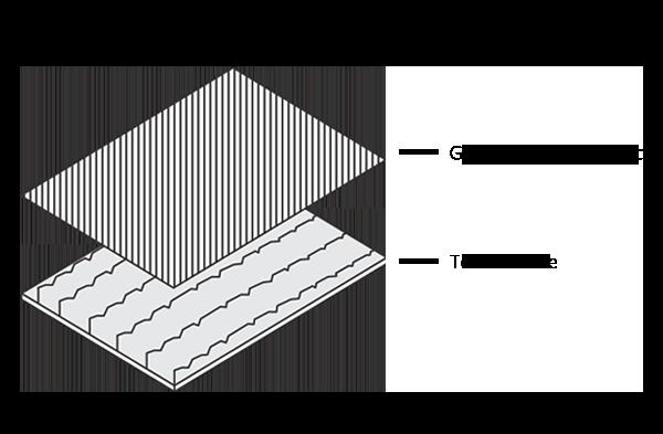Gravure print graphic + Tool texture